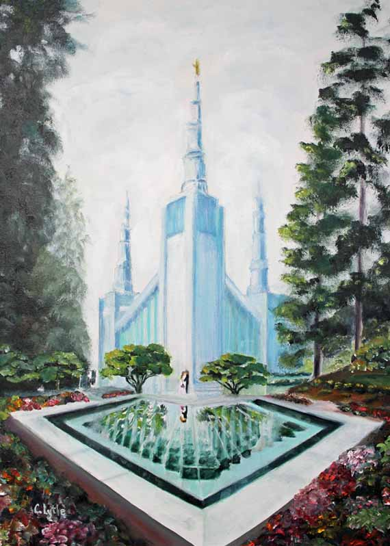 570 pixels 5x7 - Enhanced - Portland Temple - Oil copy 3