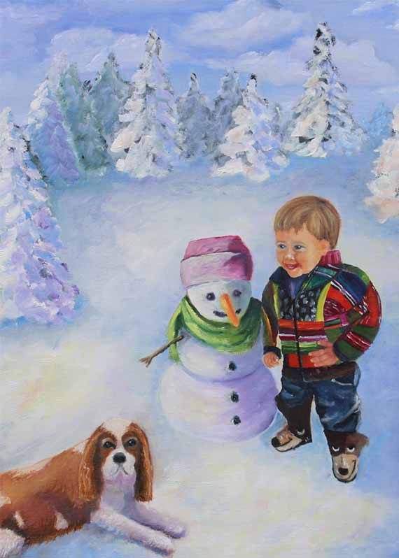 5x7 - 570 pixels -Jarom and the Snowman copy 2