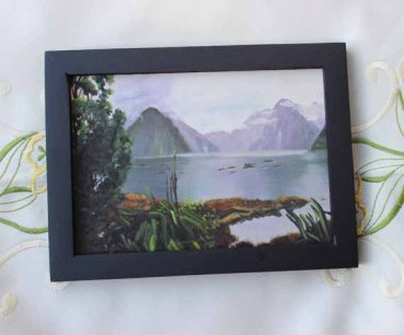 Milford Sound,570 Pixels - 5x7 Giclee print, Black Frame_edited-1 copy