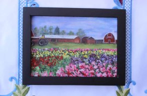 Tulip Fields - 5x7 -570 pixels with Black Frame copy