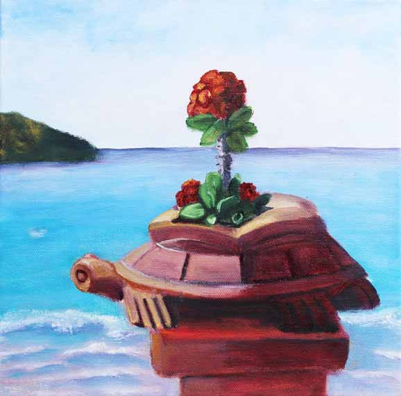 570 pixels - fixed -Zihuatanejo Turtle - Oil on Canvas - 12x12 - box canvasOfficial one - outside picture   copy_edited-1.jpg