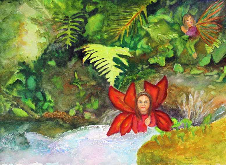 570 pixels - Woodland Fairy Series #4 - Freshening Up