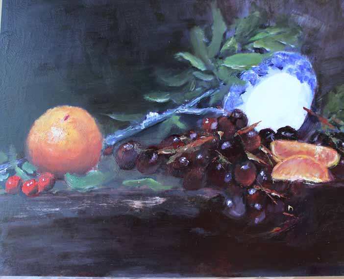 570 pixels - Still Life - grapes- oranges - Online workshop